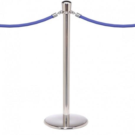Poteau corde chrome  1